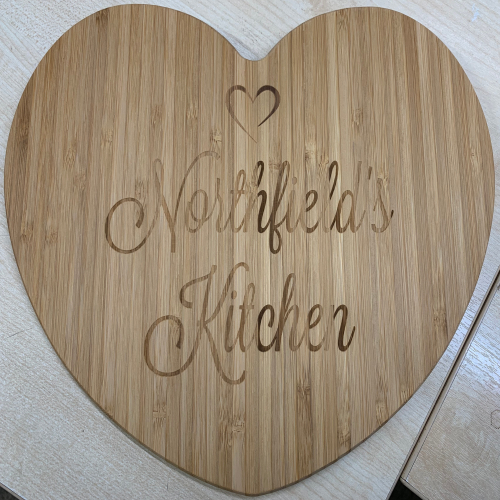 Personalised Heart Shaped Chopping Board