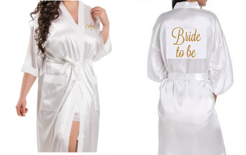 Personalised Satin Adult Robes