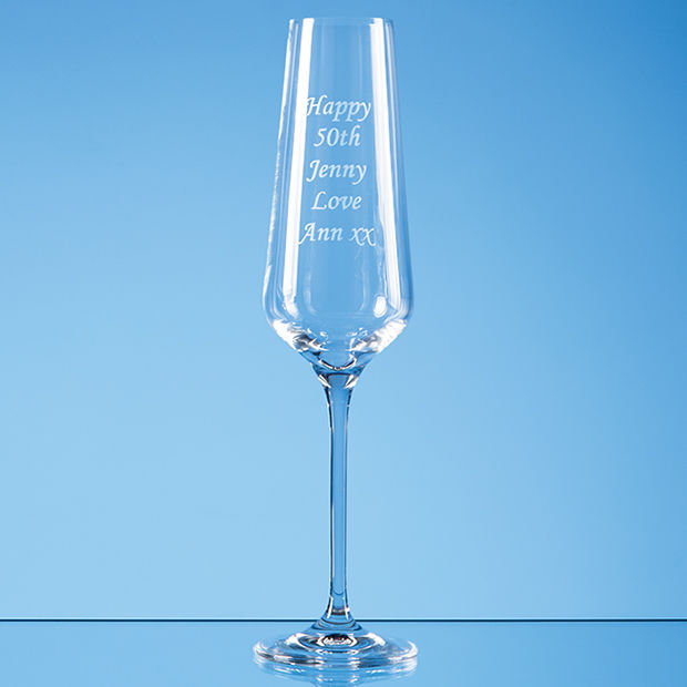 Single Crystal Champagne Flutes