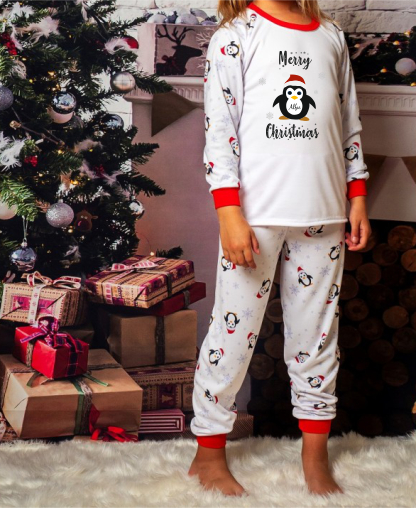 Christmas Kids Penguin Pyjamas