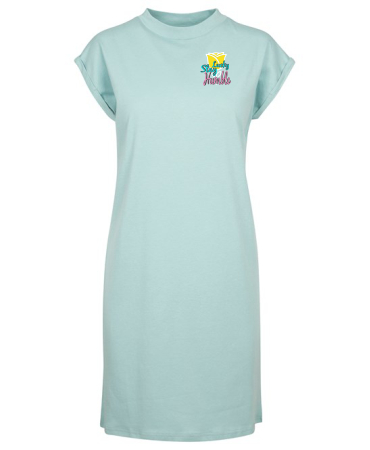 Summer T Shirt Dress with folded sleeves by STAY LUCKY STAY HUMBLE