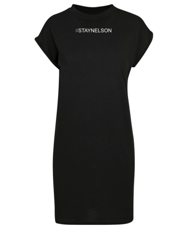 Summer T Shirt Dress with folded sleeves by STAY NELSON