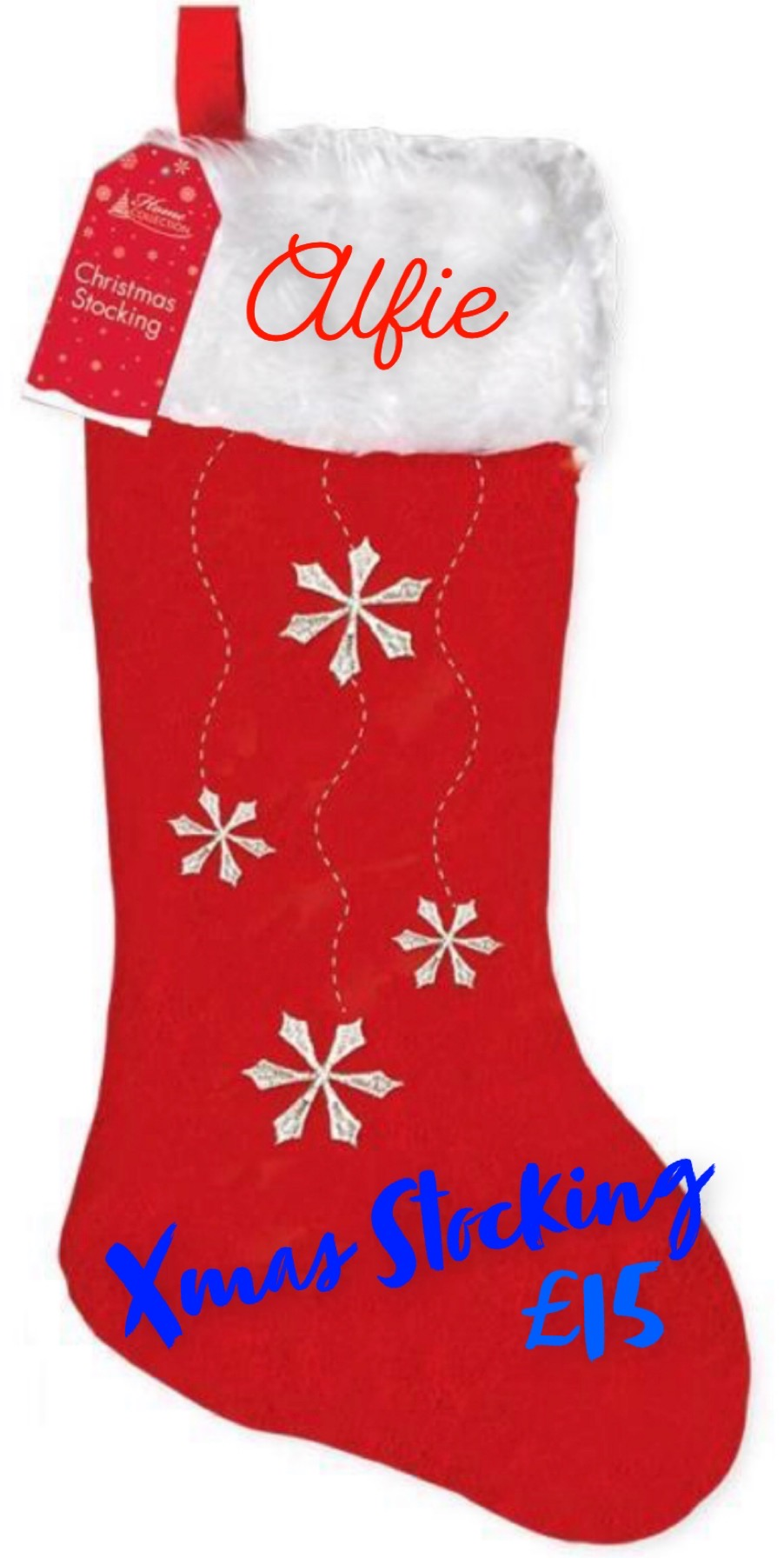 Snowflake Christmas Stocking